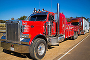 Peterbilt truck used for towing in Natchez, Mississippi, USA