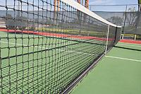 Tennis net on court