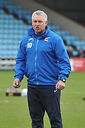Nick Daws co manager of Scunthorpe during the Sky Bet League 1 match between Scunthorpe United and Colchester United at Glanford Park, Scunthorpe, England on 23 January 2016. Photo by Ian Lyall.