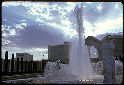 Las Vegas, Caesars Palace Fountain late in the day. July 1973