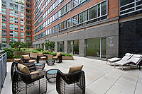 Patio at 2 River Terrace
