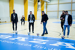 Zoran Jankovic, Bostjan Cesar, Bojan Jokic and Sasa Abric during Opening event of Sports hall Baza, on January 8, 2018 in Sports hall Baza, Ljubljana, Slovenia. Photo by Ziga Zupan / Sportida