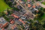 Nederland, Overijssel, Sint Jansklooster, 10-10-2014; dorp vernoemd naar het gelijknamige klooster, vernietigd tijden de Tachtigjarige Oorlog. De hoofdstraat is de Kloosterweg.<br /> Village named after the monastery, destroyed during the uprising against the Spanish (17th century).<br /> luchtfoto (toeslag op standard tarieven);<br /> aerial photo (additional fee required);<br /> copyright foto/photo Siebe Swart
