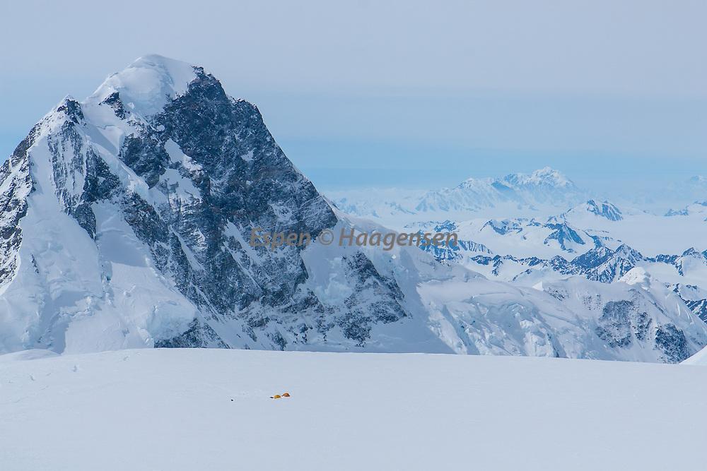 Mt.Logan, Yukon, Canada. Kings Peak towering high.