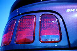 1996 Ford SVT Mustang Cobra (mystic), rear tail lamp assembly. Note: This image was originally produced on film and scanned to produce a digital file.  Some dust may be visible from that scan