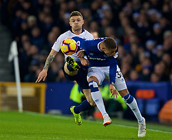 LIVERPOOL, ENGLAND - Sunday, December 23, 2018: Tottenham Hotspur's Kieran Trippier (L) and Everton's Richarlison de Andrade during the FA Premier League match between Everton FC and Tottenham Hotspur FC at Goodison Park. (Pic by David Rawcliffe/Propaganda)