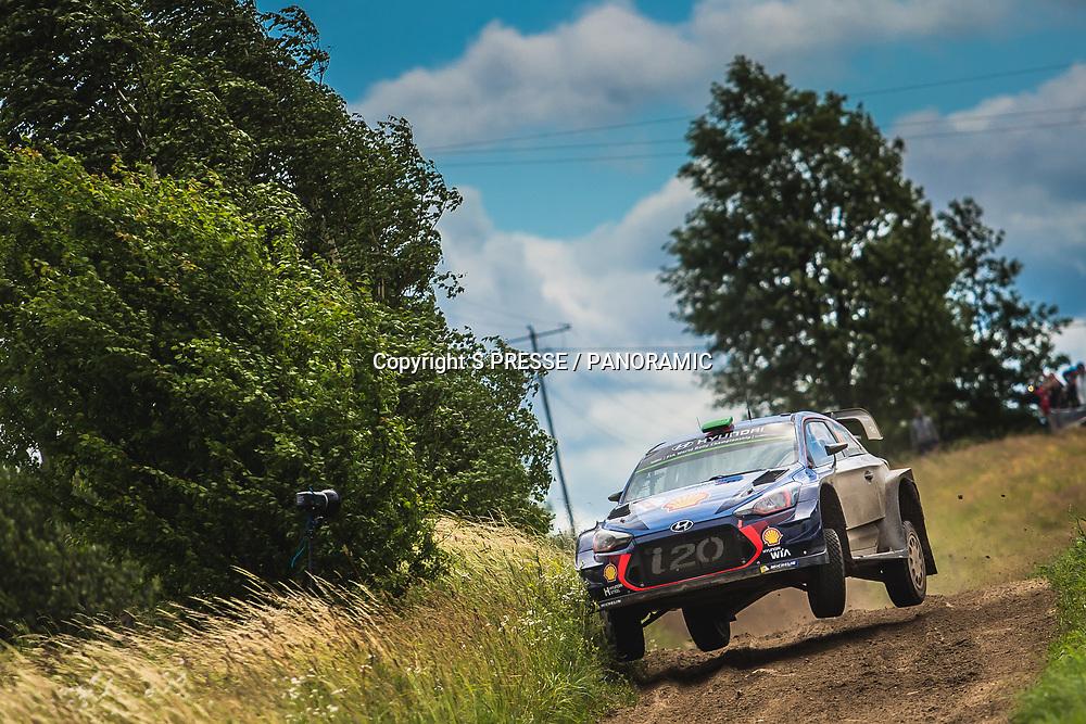 Hayden Paddon (NZL) / Sebastian Marshall.<br /> Day 4 of the WRC Rally of Poland. 2 July 2017.<br /> Copyright photo: Panoramic / www.photosport.nz