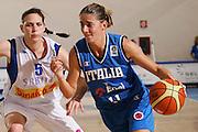 DESCRIZIONE : Ortona Italy Italia Eurobasket Women 2007 Serbia Italia Serbia Italy <br /> GIOCATORE : Raffaella Masciadri <br /> SQUADRA : Nazionale Italia Donne Femminile EVENTO : Eurobasket Women 2007 Campionati Europei Donne 2007 <br /> GARA : Serbia Italia Serbia Italy <br /> DATA : 01/10/2007 <br /> CATEGORIA : Penetrazione <br /> SPORT : Pallacanestro <br /> AUTORE : Agenzia Ciamillo-Castoria/S.Silvestri Galleria : Eurobasket Women 2007 <br /> Fotonotizia : Ortona Italy Italia Eurobasket Women 2007 Serbia Italia Serbia Italy <br /> Predefinita :