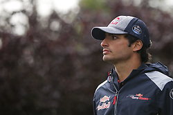 August 24, 2017 - Francorchamps, Belgium - CARLOS SAINZ jr of Spain and Scuderia Toro Rosso is seen during preparations of the 2017 Formula 1 Belgian Grand Prix in Francorchamps, Belgium. (Credit Image: © James Gasperotti via ZUMA Wire)