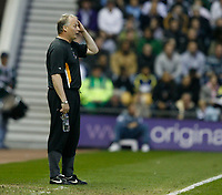 Photo: Steve Bond.<br />Derby County v Luton Town. Coca Cola Championship. 20/04/2007. Kevin Blackwell can only watch