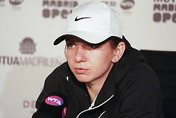 May 7, 2019 - Madrid, Spain - Simona Halep  attends a press conference during day four of the Mutua Madrid Open at La Caja Magica on May 07, 2019 in Madrid, Spain  (Credit Image: © Oscar Gonzalez/NurPhoto via ZUMA Press)