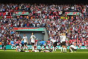 Bromley FC are defeated after a penalty shoot out for the FA Trophy match between Brackley Town and Bromley at Wembley Stadium, London, England on 20 May 2018. Picture by Stephen Wright.