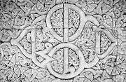 Detail of carving on premises of Friday Mosque on Male.
