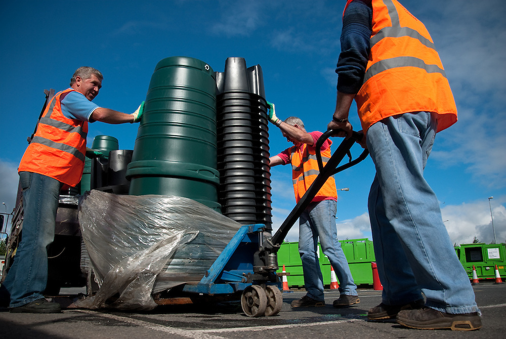 Recycling Centre, Swords, Co. Dublin for Fingal County Council Environment Department. Swords, Co. Dublin, July 2010.
