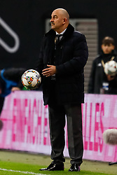 November 15, 2018 - Leipzig, Germany - Russia head coach Stanislav Cherchesov looks on during the international friendly match between Germany and Russia on November 15, 2018 at Red Bull Arena in Leipzig, Germany. (Credit Image: © Mike Kireev/NurPhoto via ZUMA Press)