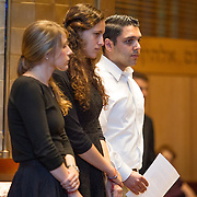 CJP and JCRC Community Memorial Service for the murdered Israeli teens at Temple Beth Elohim on July 2, 2014 in Wellesley, Massachusetts. (Photo by Elan Kawesch)