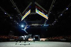 Joanne Eccles, (GBR), WH Bentley, John Eccles - Individuals Women Technical Vaulting - Alltech FEI World Equestrian Games™ 2014 - Normandy, France.<br /> © Hippo Foto Team - Jon Stroud<br /> 04/09/2014