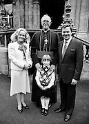 Ireland's 'golden tenor', Frank Patterson, with his family and Dr Dermot Ryan, Archbishop of Dublin, at the conferring of Papal Honours. The internationally renowned Irish singer, following in the tradition of singers such as Count John McCormack and Josef Locke, was awarded the Knighthood of St Gregory by the Pope. He was also a Knight of Malta and a Knight Commander of the Holy Sepulchre of Jerusalem.<br />