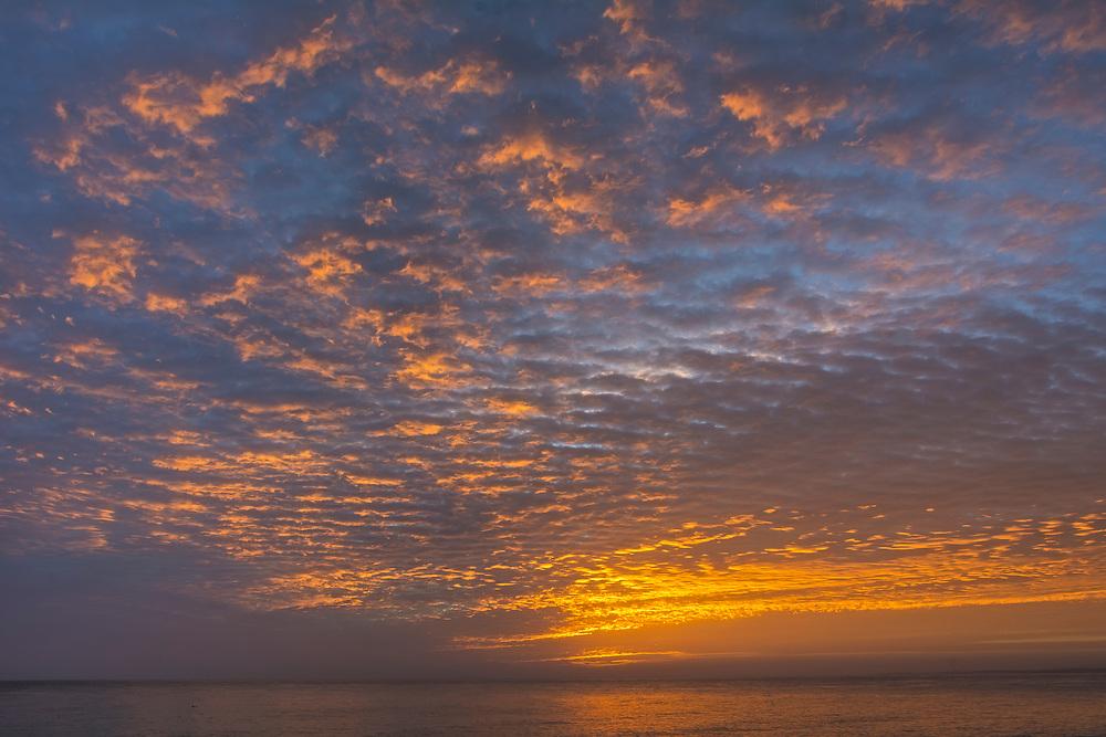 Sunrise on the Sea of Cortez at Los Barriles, Baja California Sur, Mexico.