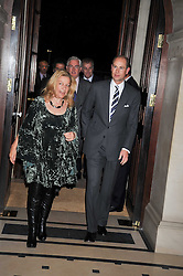 JILL SAMUELS and HRH The EARL OF WESSEX at a reception to launch Films Without Borders held The Lanesborough Hotel, London on 8th October 2009.