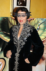 Fashion figure ISABELLA BLOW at the launch of MAC's High Tea collection with leading British designers held at The Berkeley Hotel, London on 17th January 2005.  MAC has collabroated with The Berkeley's Pret-a-Portea, which adds a creative twist to th classic elements of the English afternoon tea with cakes and pastries inspired by fashion designs.<br /><br />NON EXCLUSIVE - WORLD RIGHTS