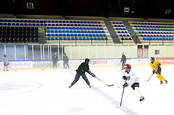 Kids during practice at Hockey Academy of Anze Kopitar and Tomaz Razingar, on July 4, 2018 in Ice Hockey arena Bled, Slovenia. Photo by Vid Ponikvar / Sportida
