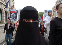 Protest demonstration in central London against occupation of Iraq October 2005.