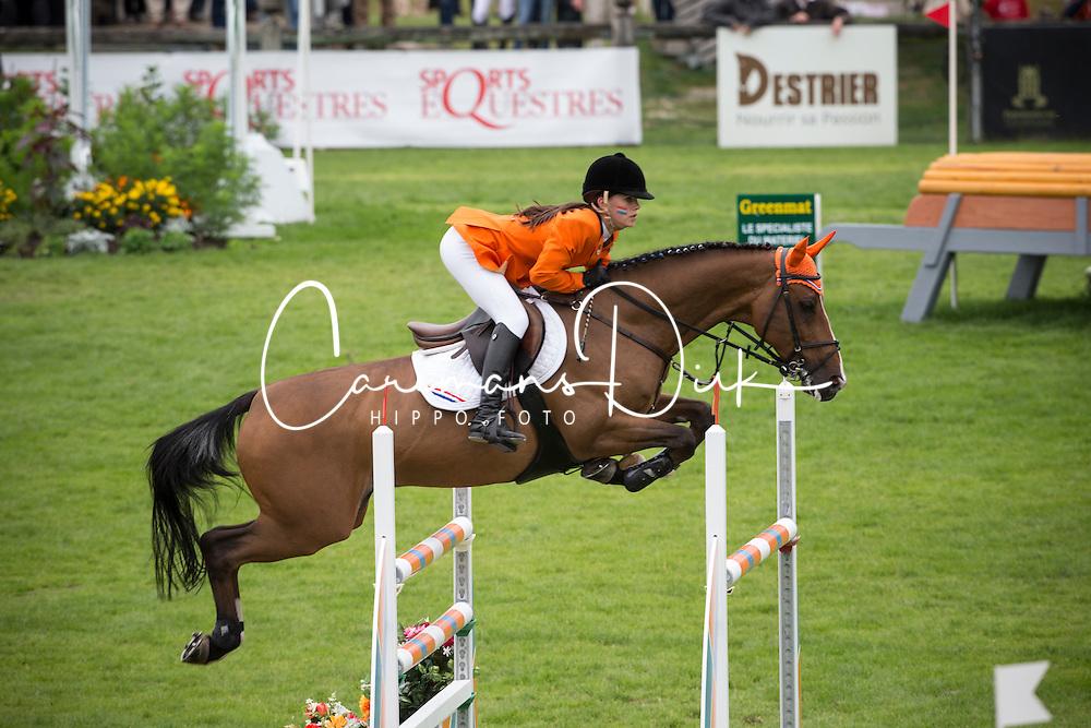 Nooren Lisa (NED) - Rock Dee Jea<br /> European Championship Poney - Fontainebleau 2012<br /> &copy; Dirk Caremans