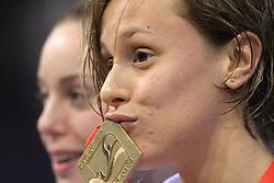 Federica Pellegrini of Italy won the women's 200m freestyle race in 1 min 51 sec 85/100 setting a new world record during day 4 of LEN European Short Course Swimming Championships Rijeka 2008, on December 14, 2008,  in Kantrida pool, Rijeka, Croatia. (Photo by Vid Ponikvar / Sportida)