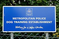 ©  licensed to London News Pictures KENT. UK. 28/04/2011. The Metropolitian police dog training centre in Bromley today (28 June 2011). An officer has been treated in hospital following the deaths of two police dogs who were left in a car on one of the hottest days of the year. The animals were found collapsed in an unventilated vehicle at the Metropolitan Police's training centre. Please see special instructions..Picture credit should read Grant Falvey/LNP.