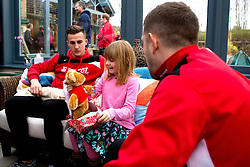 Joe Bryan and Frank Fielding of Bristol City give out presents during Bristol City's visit to the Children's Hospice South West at Charlton Farm - Mandatory by-line: Robbie Stephenson/JMP - 21/12/2016 - FOOTBALL - Children's Hospice South West - Bristol , England - Bristol City Children's Hospice Visit