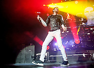 Simon Le Bon of Duran Duran performs on stage at SEE Hydro onDecember06, 2015 in Glasgow,Scotland