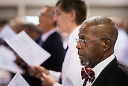 Delegates worship during Matins at the 66th Regular Convention of The Lutheran Church–Missouri Synod on Sunday, July 10, 2016, at the Wisconsin Center in Milwaukee. LCMS/Michael Schuermann