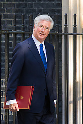 Downing Street, London, April 25th 2017. Defence Secretary Michael Fallon attends the weekly cabinet meeting at 10 Downing Street in London. Credit: ©Paul Davey