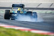February 20, 2013 - Barcelona Spain. Charles Pic, Caterham F1 Team during pre-season testing from Circuit de Catalunya.
