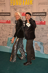 Ellen Von Unwerth and Sascha Lilic at the Fabulous Fund Fair in aid of Natalia Vodianova's Naked Heart Foundation in association with Luisaviaroma held at The Round House, Camden, London England. 18 February 2019.