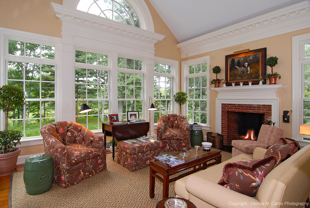 Cozy Old Lyme Living Room