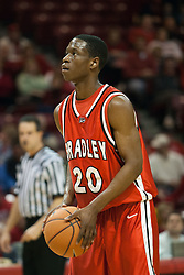 11 February 2006:  ....Illinois State Redbirds fall to the Bradley Braves at home in Redbird Arena in Normal Illinois.