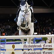 NLD/Amsterdam/20190125- Jumping Amsterdam 2019, Spring ruiter op paard