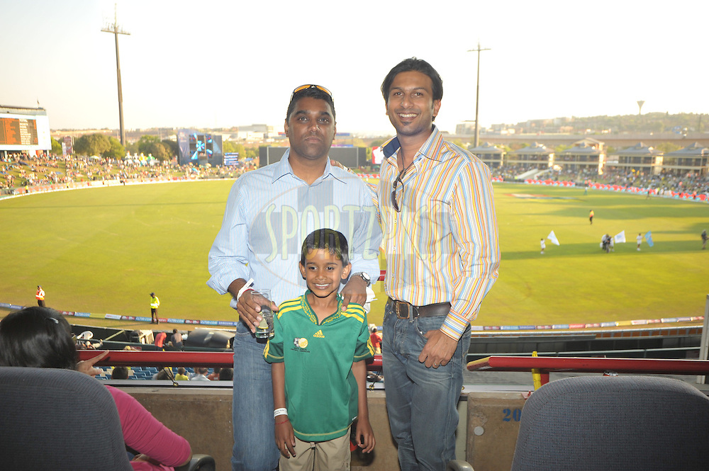Terence Naidu, Sives Govender and Nickeeram prior to match 9 of the Airtel CLT20 held between the Chennai Super Kings v Wayamba Elevens at Supersport Park in Centurion on the 15 September 2010..Photo by: Michael Edwards/SPORTZPICS/CLT20