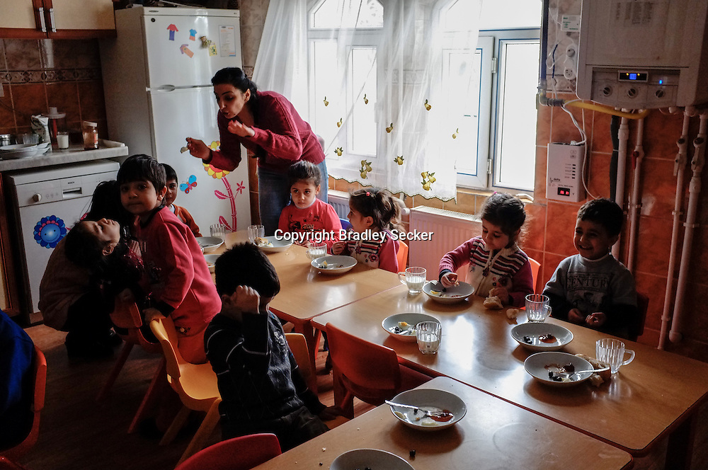 DIYARBAKIR, TURKEY. FEBRUARY 22, 2013 Lunch break at the state run Kurdish language school in Diyarbakir. Students may be able to continue their education in Kurdish under the new law in Turkey.