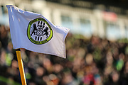Corner flag during the EFL Sky Bet League 2 match between Forest Green Rovers and Crawley Town at the New Lawn, Forest Green, United Kingdom on 24 February 2018. Picture by Shane Healey.