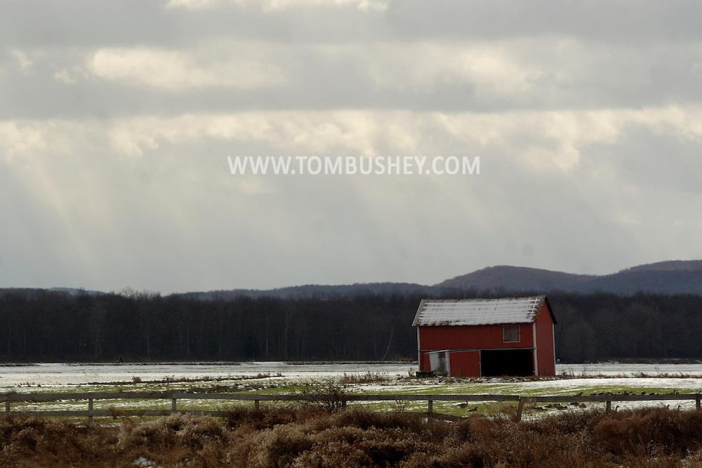 Florida, NY - A small barn in a farmer's field on Dec. 4, 2007.