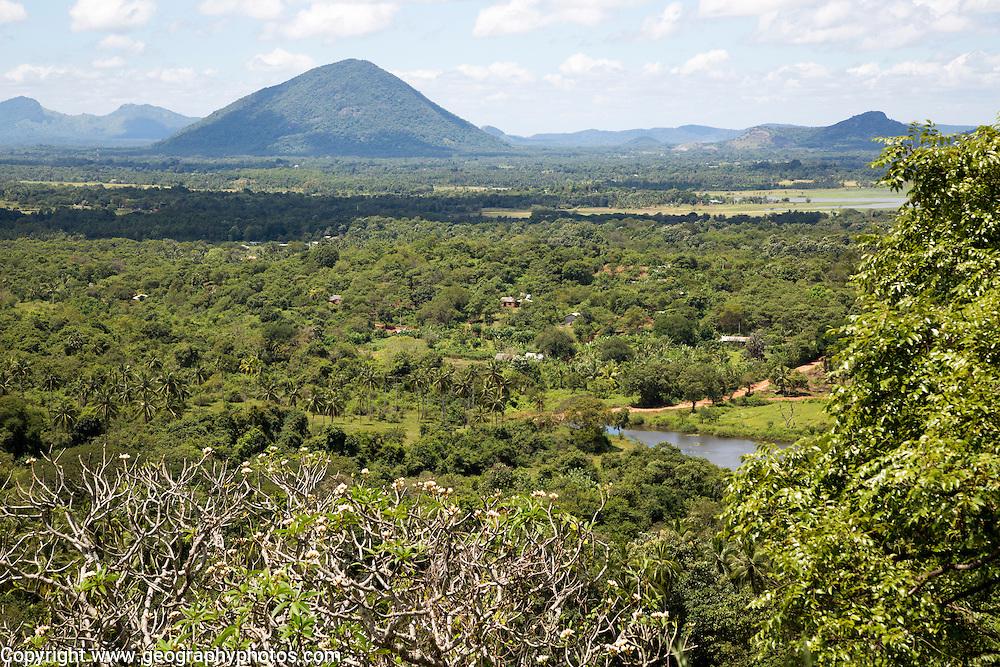 Landscape view over countryside from Dambulla, Sri Lanka, Asia