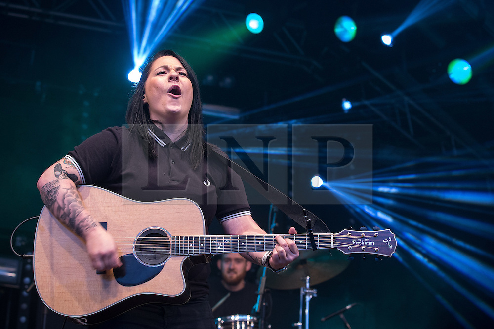 "© Licensed to London News Pictures . 25/08/2014 .  Manchester , UK . LUCY SPRAGGAN performs on the main stage . Manchester Pride "" Big Weekend "" in Manchester . Photo credit : Joel Goodman/LNP"