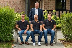Team Belgium Driving <br /> Boven : Chef d'equipe, Kindt Filip<br /> Onder : Degrieck Dries, Geerts Glenn, Simonet Edouard<br /> Team Belgium Driving 2019<br /> © Hippo Foto - Dirk Caremans<br /> 06/08/2019