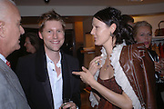 Christopher Bailey and Lucy Ferry. Christopher Bailey hosts a party to celebrate the launch of ' The Snippy World of New Yorker Fashion Artist Michael Roberts' Burberry, New Bond St.  London. 19  September 2005. ONE TIME USE ONLY - DO NOT ARCHIVE © Copyright Photograph by Dafydd Jones 66 Stockwell Park Rd. London SW9 0DA Tel 020 7733 0108 www.dafjones.com