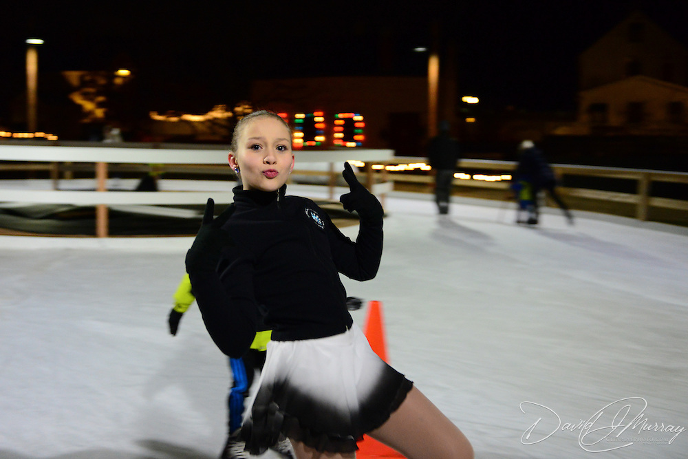Opening night of the Puddle Dock Pond skating rink at Strawbery Banke in Portsmouth, NH. Dec. 12, 2014