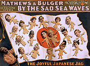 Mathews & Bulger presenting rag time opera, By the sad sea waves. Other Title: By the sad sea waves. c1898.