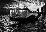 Italy. Venice. Elevated view.  on  the Grand Canal . Gondolas  Venice - Italy   / gondoles sur  le grand canal,  Venise - Italie